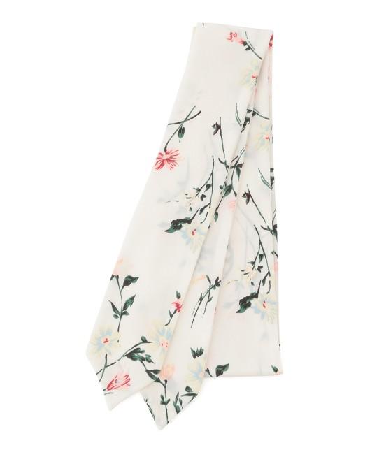 ビス | 【sweet4月号掲載】小花柄ナロースカーフ | ホワイト