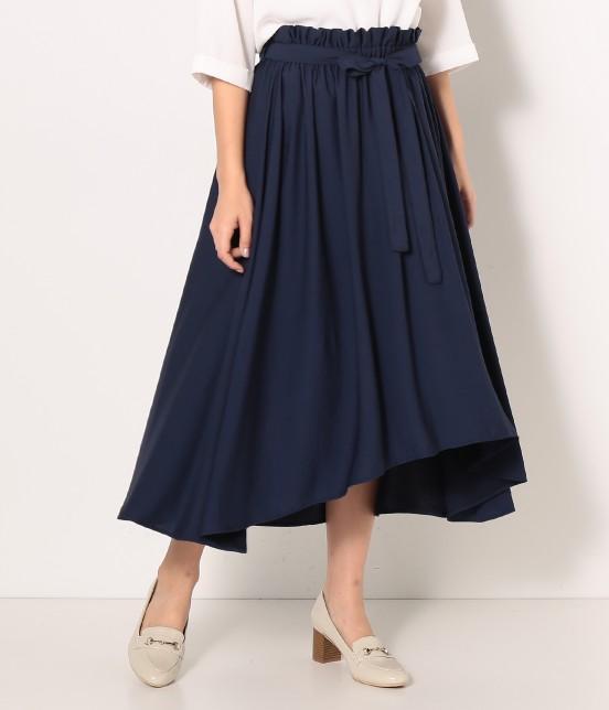 ロペピクニック | 【HIRARI COLLECTION】ヴィンテージサテンスカート | ネイビー