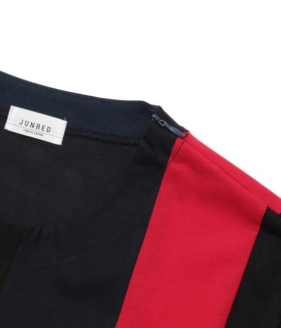 ジュンレッド | 【TIME SALE】パネルストライプ半袖Tシャツ - 16