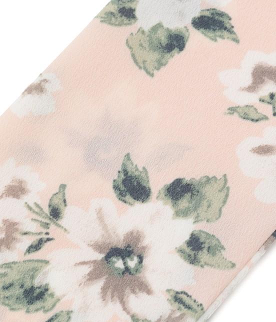 ビス | 花柄ナロースカーフ - 2