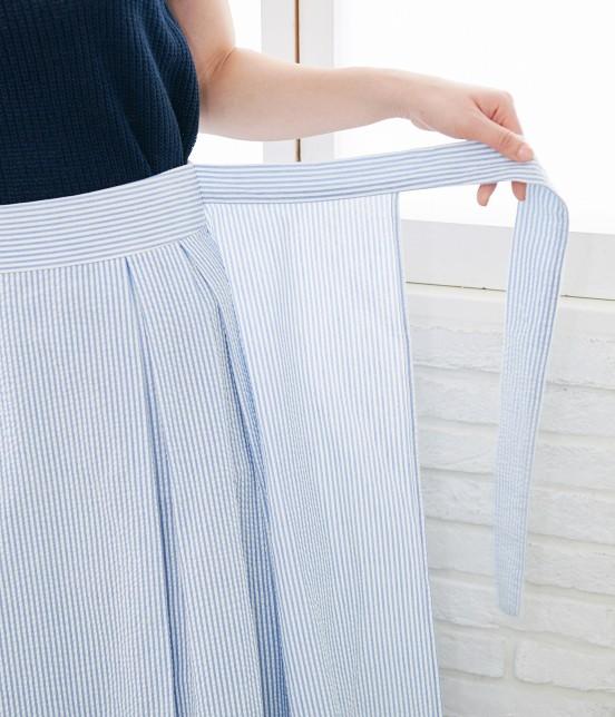 ロペピクニック   【50TH SPECIAL COLLECTION】無地/ストライプ裾刺繍スカート - 4