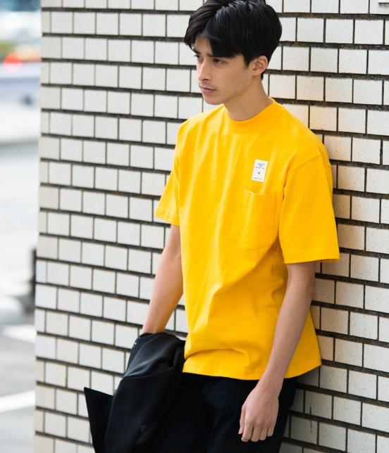 アダム エ ロペ オム | 【CAMBER for ADAM ET ROPE'】FAKE PRINT Tシャツ | イエロー
