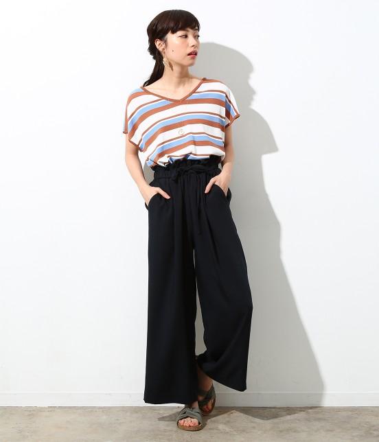 ロペピクニック | 【Japan Fabric】麻調ワイドパンツ - 8