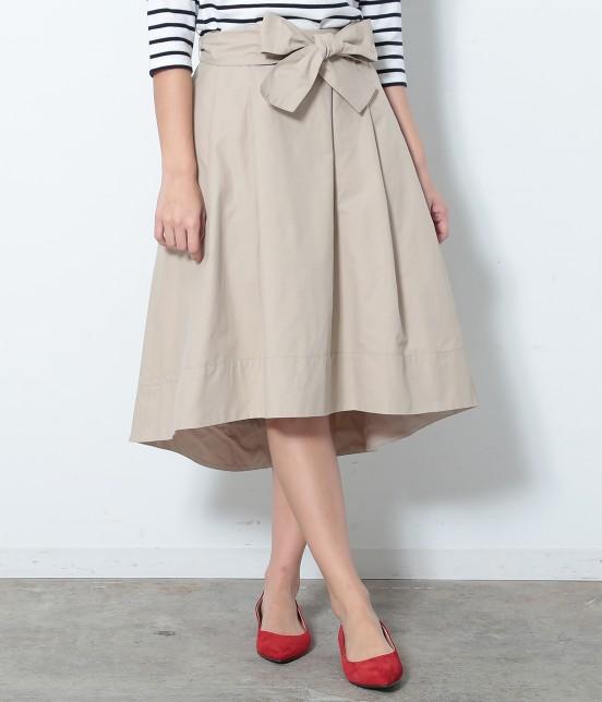 ロペピクニック | リボン付きイレギュラーヘムスカート