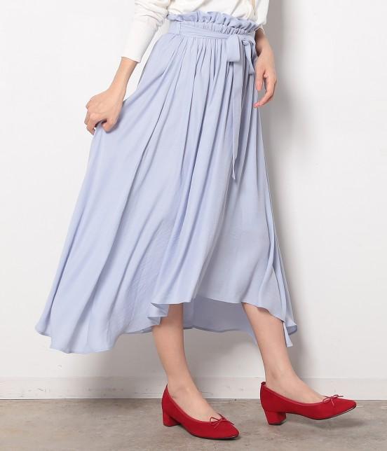 ロペピクニック | 【HIRARI COLLECTION】ヴィンテージサテンスカート | サックス