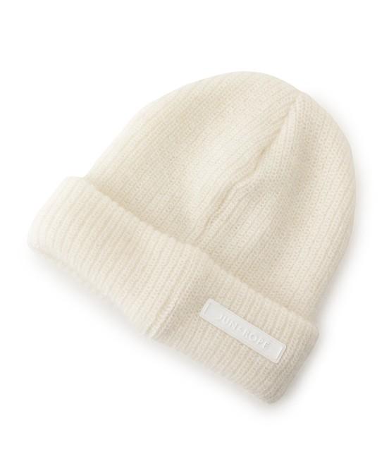 ジュン アンド ロペ | ワンポイントワッペン付きニット帽 - 3