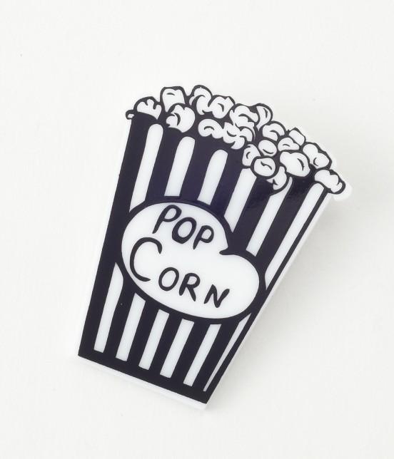 ロペ マドモアゼル | POP CORN バッチ | ブラック
