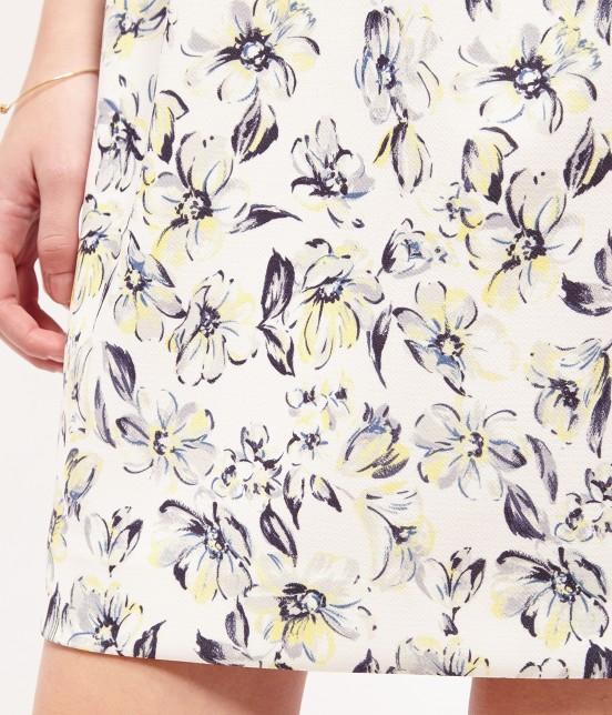 ロペピクニック | 【WEB限定40サイズ】花柄半袖タックコクーンワンピース - 5