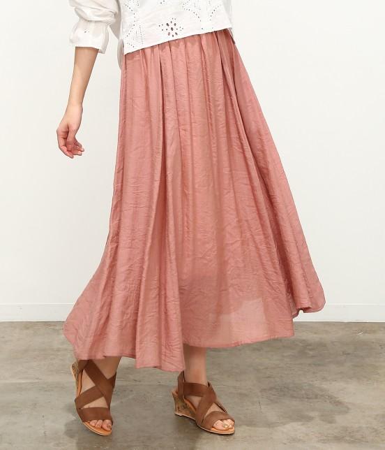 ビス | 【ただいまセール開催中】【SET】ベルト付きスラブローンギャザースカート | ピンク