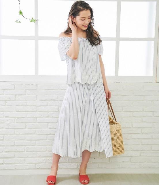 ロペピクニック | 【TIME SALE】【50TH SPECIAL COLLECTION】【2WAY】裾刺繍オフショルダーブラウス - 11