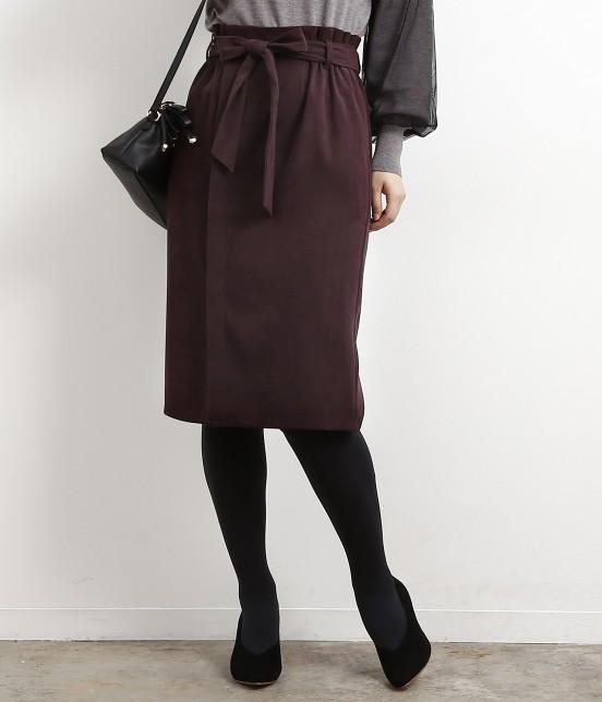 ロペピクニック   【新色追加】【HAPPY PRICE】ベロアタッチアイラインスカート   ワイン系