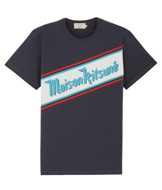 MAISON KITSUNÉ MEN | TEE SHIRT BAND MK | ネイビー