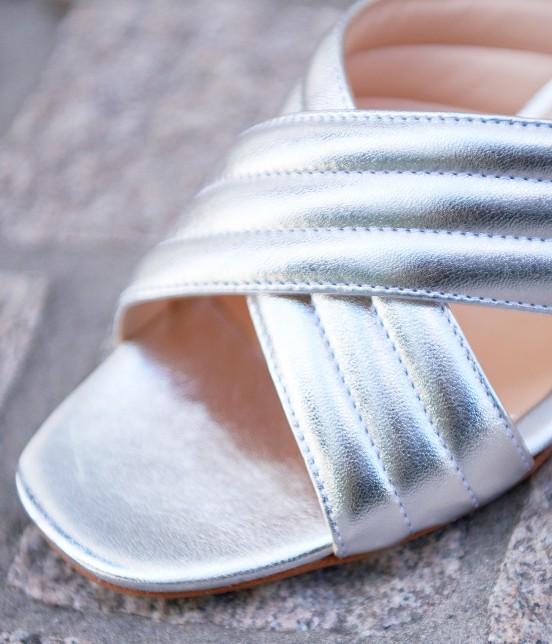 アダム エ ロペ ファム | 【FABIO RUSCONI】Metalic Sandals - 5