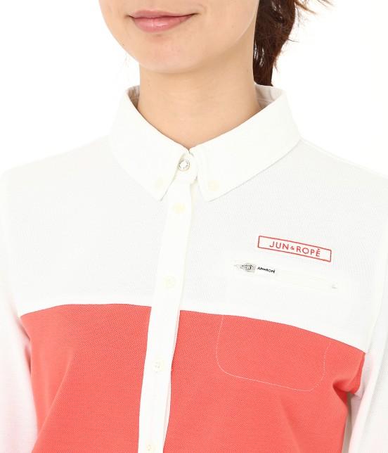 ジュン アンド ロペ | MILLION ICE 配色長袖ポロシャツ - 4