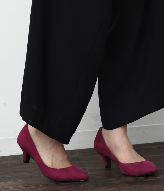 ロペピクニックパサージュ | 【WEB.一部店舗限定35,40サイズ】ポインテッドトゥプレーンパンプス | ピンク系