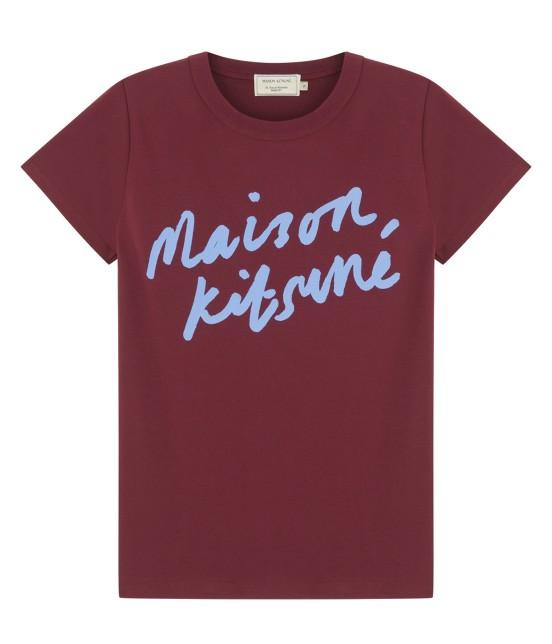 MAISON KITSUNÉ WOMEN | T SHIRT HANDWRITING | パープル系