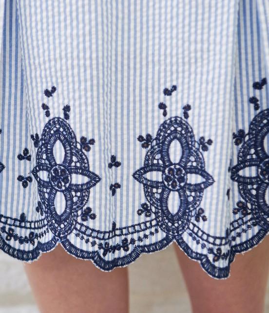 ロペピクニック   【50TH SPECIAL COLLECTION】無地/ストライプ裾刺繍スカート - 5