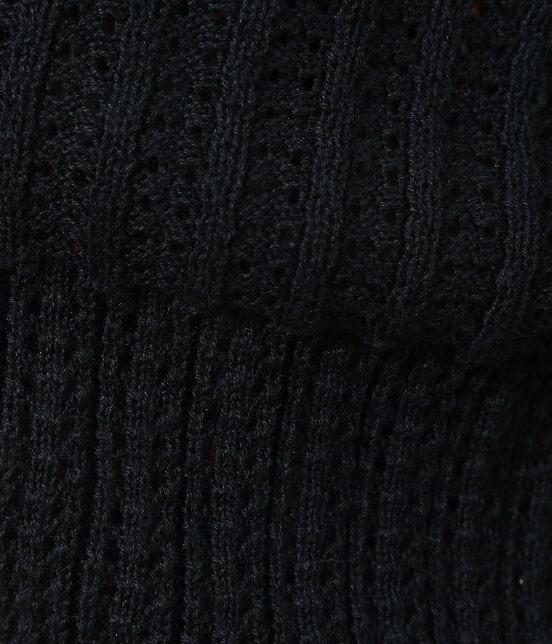 ビス | 【前後2WAY】すかし柄編みカーディガン - 6