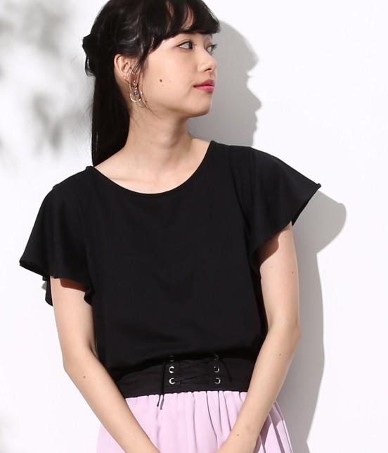 ロペピクニック | コルセットコンビTシャツ | ブラック