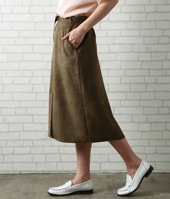 サロン アダム エ ロペ ウィメン | フェイクスエードタイトスカート - 1