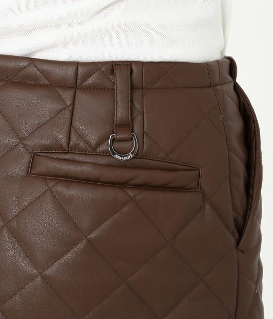 ジュン アンド ロペ   フェアリーレザーチョコレートキルトスカート - 8
