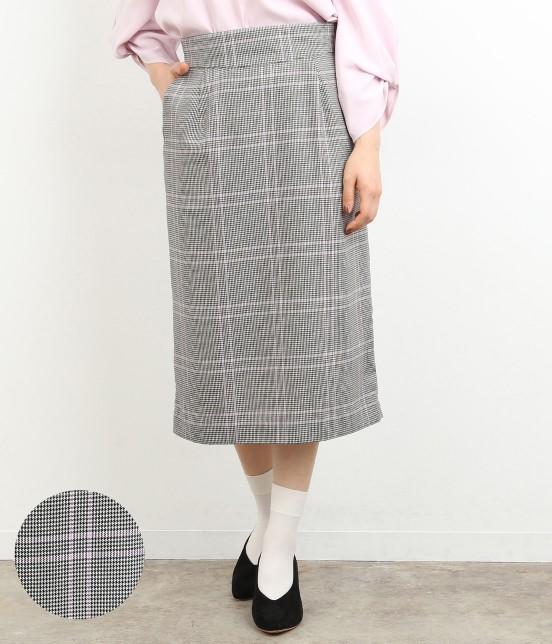 ロペピクニック   【TIMESALE】カラーチェックAラインスカート   ピンク系