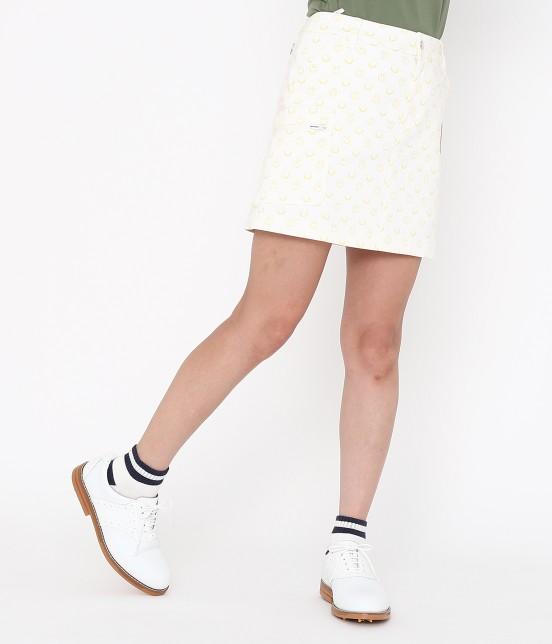 ジュン アンド ロペ | スマイルモチーフプリントスカート | ホワイト