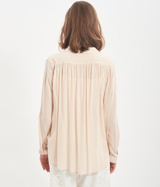 ビス | レーヨンギャザーシャツ - 2