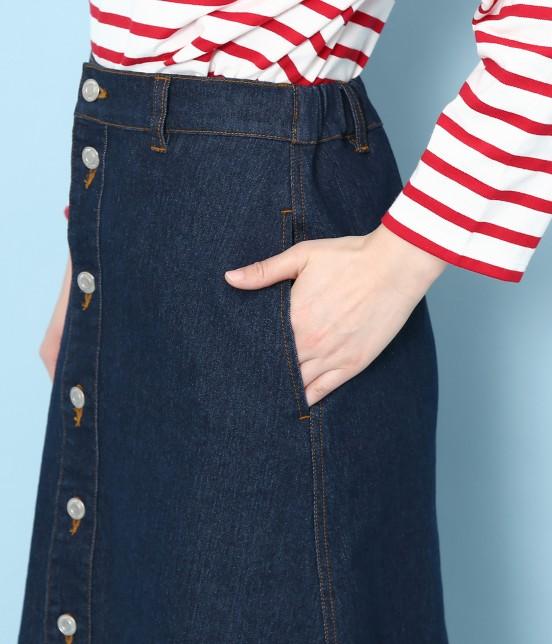 ロペピクニック | 【10%OFF Campaign】【予約】【WEB限定】フロントボタンデニムスカート - 5