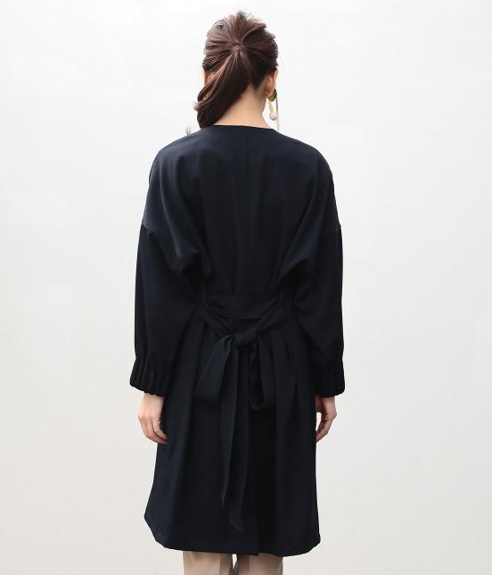 ビス | タックボリューム袖コート - 2