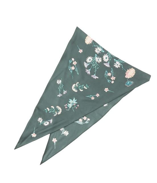 ロペピクニックパサージュ | 【TIMESALE】ボタニカルプリント菱形スカーフ | モスグリーン