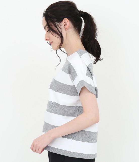 サロン アダム エ ロペ ウィメン | ポンチボーダーTシャツ - 3