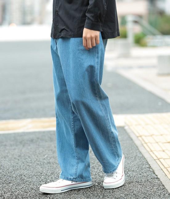 ジュンレッド   【WEB別注】ワイドデニムパンツ   ブルー