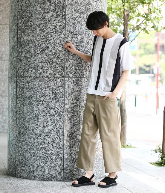 ジュンレッド | 【TIME SALE】パネルストライプ半袖Tシャツ - 9