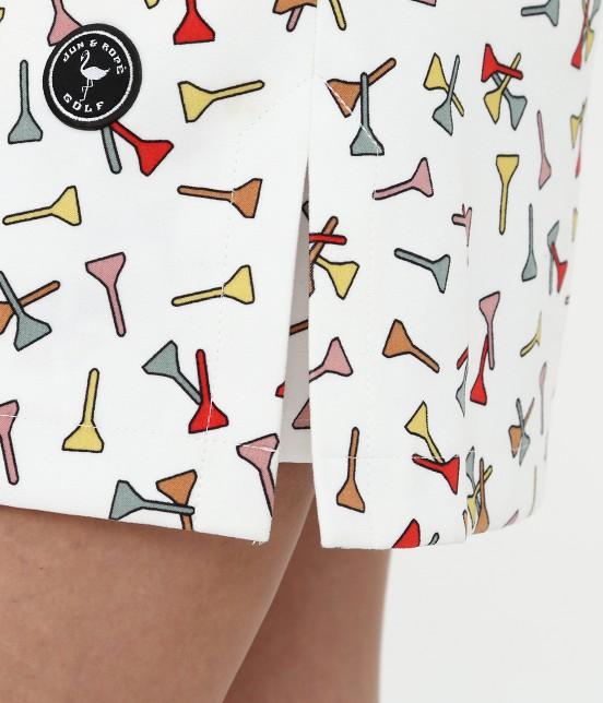 ジュン アンド ロペ | ティプリントパンツ一体型スカート - 7