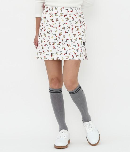 ジュン アンド ロペ | ティプリントパンツ一体型スカート | ホワイト系