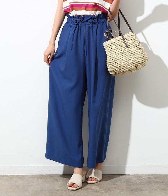 ロペピクニック | 【Japan Fabric】麻調ワイドパンツ | ブルー