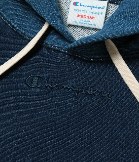 アダム エ ロペ オム | 【Champion for ADAM ET ROPE' 】Exclusive Indigo Hoodie - 2