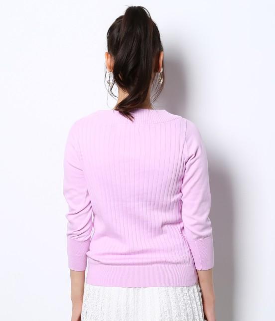 ロペピクニック | 綿100%製品染めリブ編みプルオーバー - 2