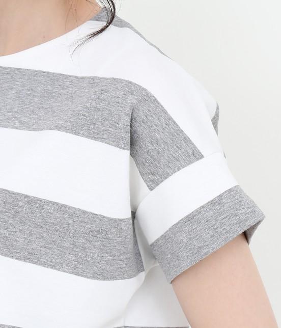 サロン アダム エ ロペ ウィメン | ポンチボーダーTシャツ - 6