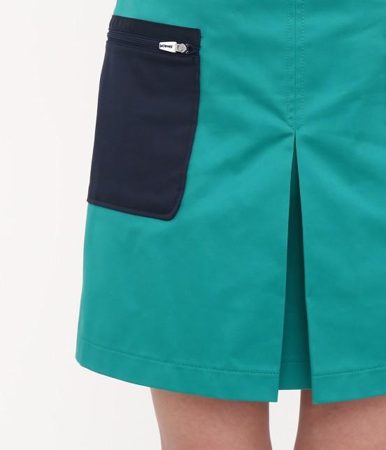 ジュン アンド ロペ | 【透け防止】【吸水速乾】【UVカット】配色ポケットボックスプリーツスカート - 5