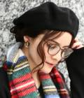 Adam et Ropé Le Magasin WOMEN - アダム エ ロペ ル マガザン ウィメン   【Le Beret Francais】カラーベレー帽   ブラック