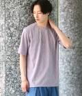 JUNRed - ジュンレッド | エンボス加工Tシャツ | パープル系