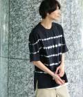 JUNRed - ジュンレッド | 絞り染め半袖Tシャツ | ブラック