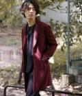 JUNRed - ジュンレッド | 【FINEBOYS 12月号掲載商品】メルトン2ボタン8ポケットチェスターコート | ワイン
