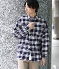 JUN SELECT - ジュンセレクト   【先行予約】【Ready Steady GO!÷JUNRed】チェックプリントシャツ   ネイビー