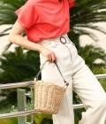 ROPÉ - ロペ | 【Oggi7月号掲載】カゴ編みバケツバッグ | グレー