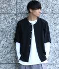 JUNRed - ジュンレッド | ソフトドレープノーカラーシャツ | ブラック
