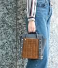 ViS - ビス | 【LAUGOA】MELLEカゴハンドバッグ | グレー