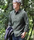 ADAM ET ROPÉ WILD LIFE TAILOR - アダム エ ロペ ワイルド ライフ テーラー | 【BONCOURA EXCLUSIVE for WILD LIFE TAILOR】FLANNEL WORK SHIRT | オリーブ